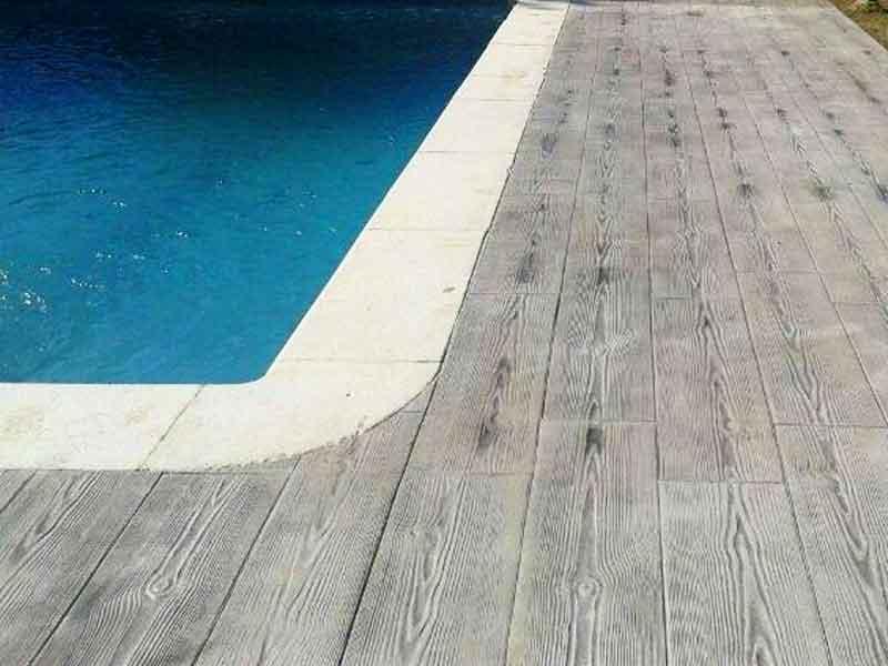 hormigon impreso para piscina