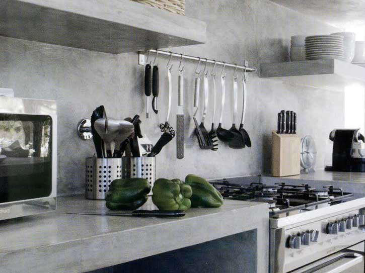 microcemento en cocina de granada