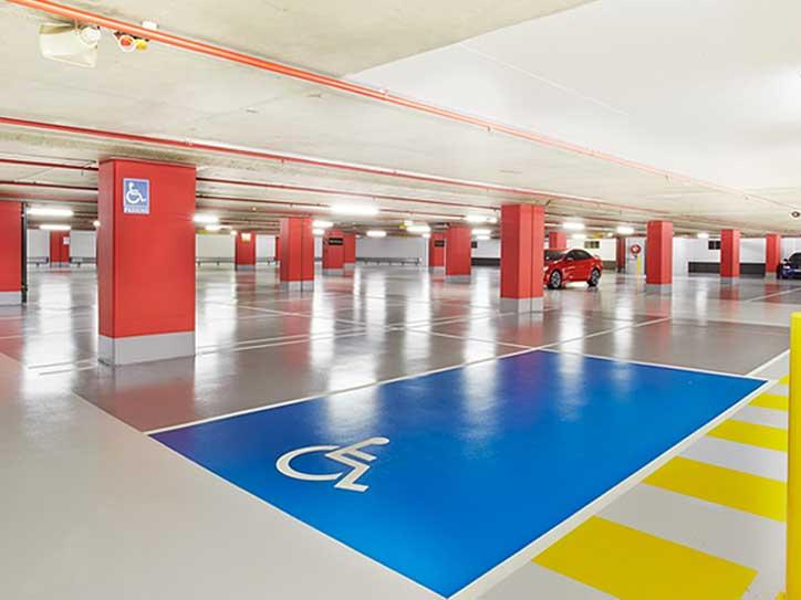 aplicacion suelo parking centro comercial sevilla
